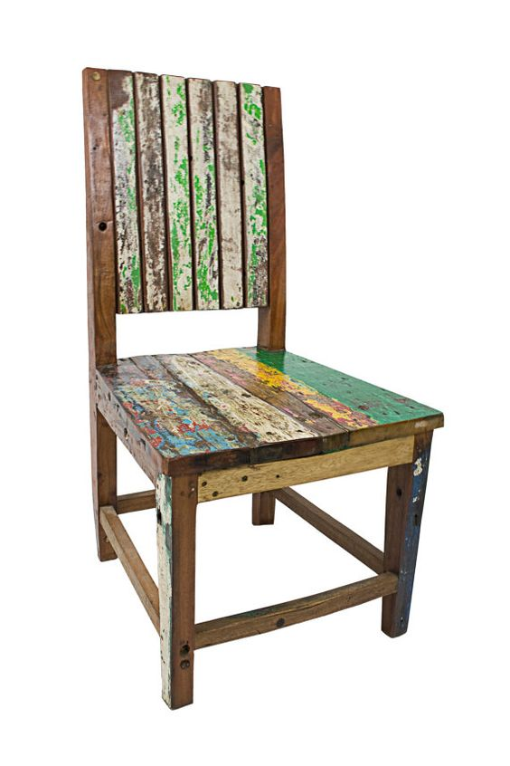 Reclaimed wood chairs six by EcologicaMalibu on Etsy, $200.00