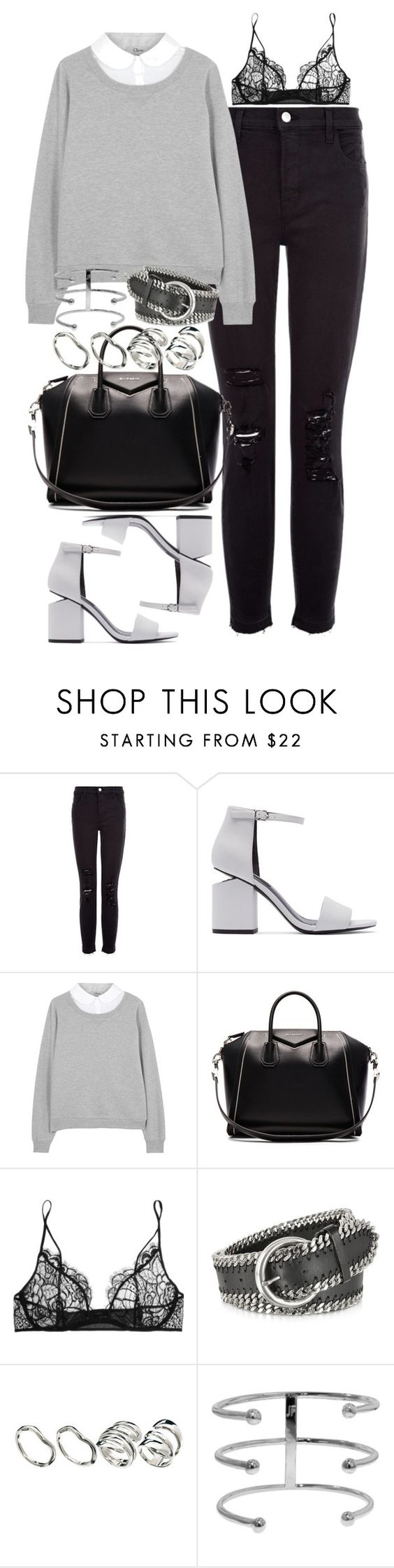 """Untitled #1975"" by sarah-ihab ❤ liked on Polyvore featuring J Brand, Alexander Wang, Clu, Givenchy, Kiki de Montparnasse, Forzieri, ASOS and Jennifer Fisher"