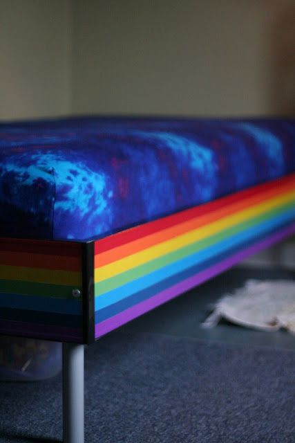 Duct tape rainbow bed!