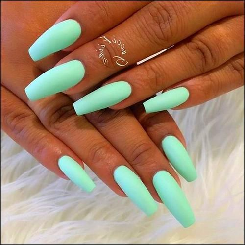 Acrylic Nails Coffin Best Acrylic Nails Mint Nails Summer Acrylic Nails