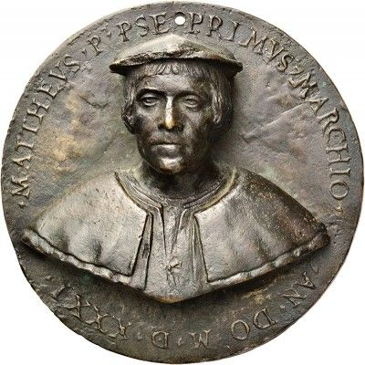 Portrait medallion of Matteo Barresi, by Antonello Gagini. 1531