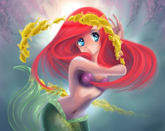 ariel and her friends by NiSaki