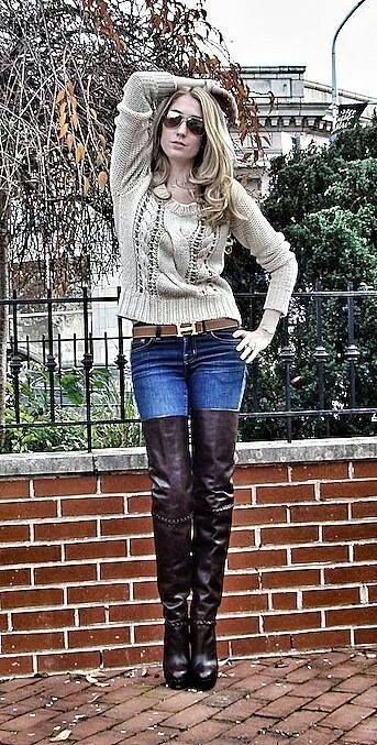 Thigh Boots And Jeans Style Pinterest Boots