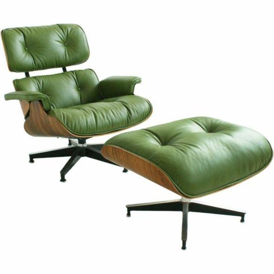 designer sessel Eames Lounge Chair farbig grün