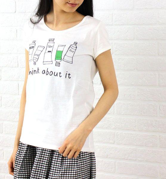 aug(オーグ) コットン フレンチスリーブ プリント Tシャツ・842752 #aug