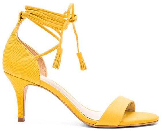 Vince Camuto Yellow Tassel Strappy Heel