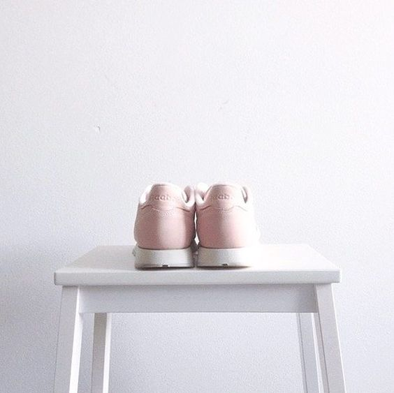 Light pink Reebok sneakers  by huntrlabel
