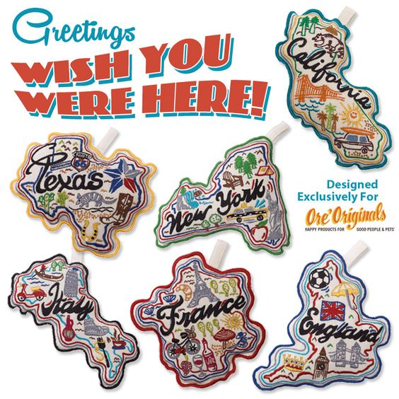 Wish You Were Here Pet Toys Designed Exclusively For Ore Originals