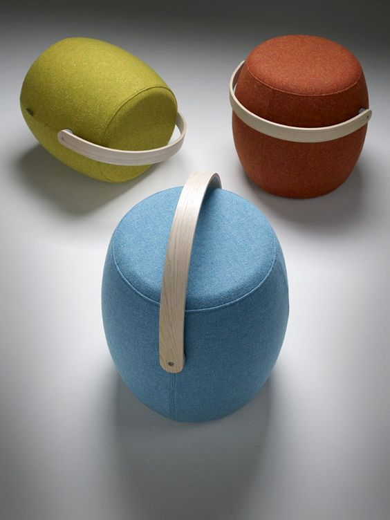 Pouf imbottito CARRY ON--design by Mattias Stenberg