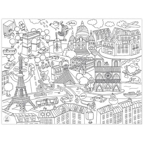 Coloriage Omy Sets De Table A Colorier City Map Omy 24 Sets