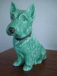 Large Sylvac Green Mac Scottie Dog   Trade Me