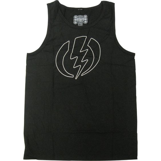Electric Visual Volt Line Men's Tank Shirts - Black