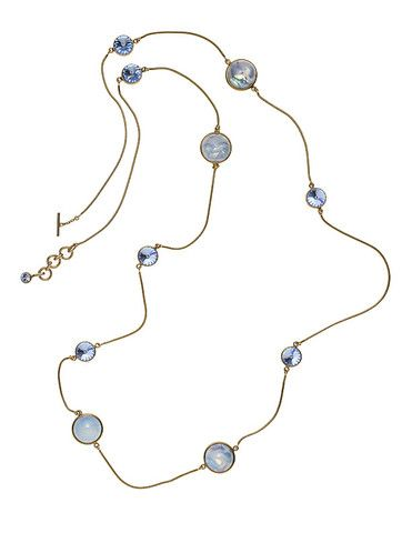 THE ORIENT EXPRESS COLLECTION  Pearl of Siberia opalescent glass and Swarovski crystal sautoir  Fall/Winter Collection. Made in Italy  Available now for pre-order.  Shipment in October