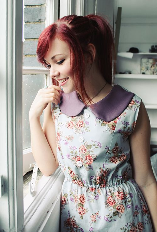 floral and a collar. love the combination