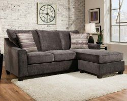 The Elizabeth Charcoal Sectional Sofa Is A Plush