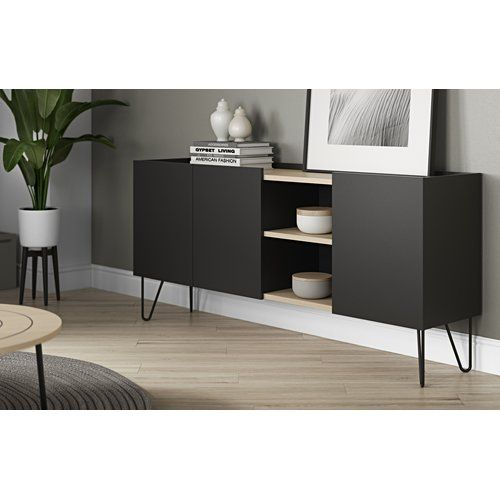 Brayden Studio Almonte Sideboard Furniture Black Sideboard Sideboard