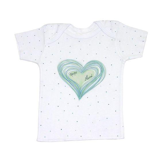 Corazón garabatos verdes #Soyunica