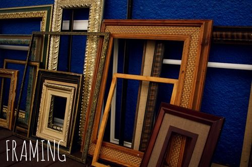 "We offer a unique and affordable framing service, using recycled materials. All of our frames are recycled, reused, and vintage! ""New"" frames are brought in each week, which means our selection is wide and constantly changing. Our framing prices include, time, glass, and materials."