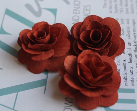 Wood Birch Flower  Melted Chocolate by itsallaboutflower76 on Etsy, $8.50