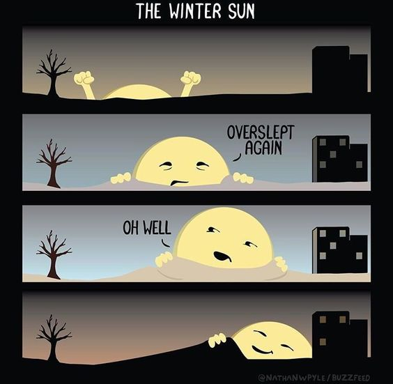 How the winter sun works:
