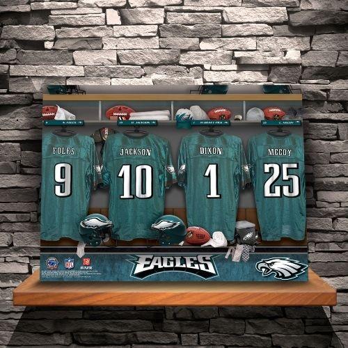Bella Merce - Personalized NFL Locker Room Canvas Print, $89.99 (http://www.bellamerce.com/personalized-nfl-locker-room-canvas-print/)