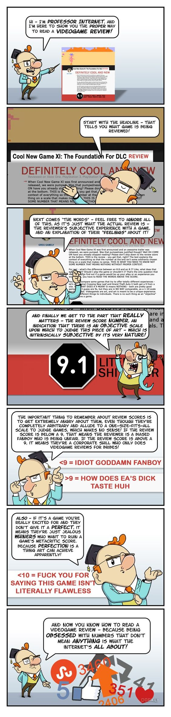 """""""How to Read a Video Game Review"""" #dorkly #geek #videogames"""