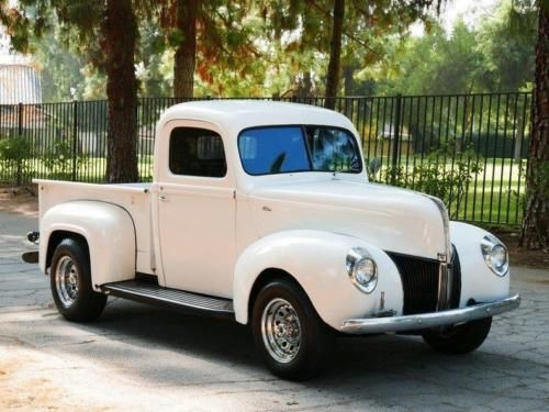 1940 Ford White Pickup Truck Old Trucks For Sale Vintage