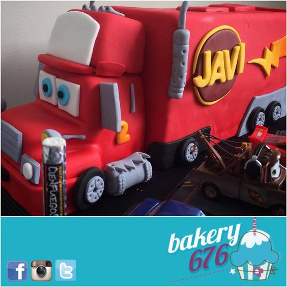 Mack From Cars Cake