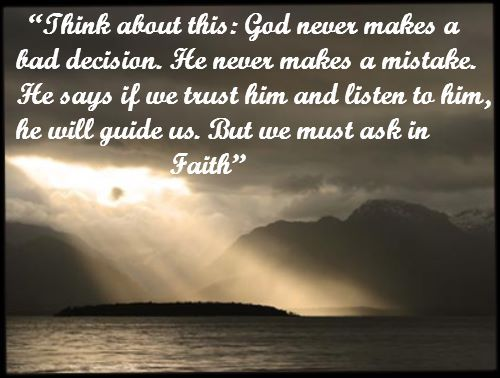 Faith in our Lord is a must...