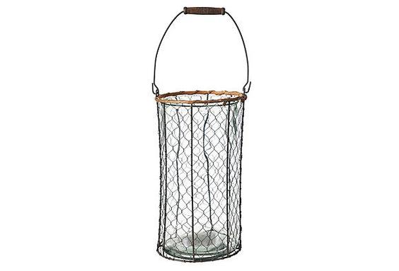 Wire Farm Basket, Large on OneKingsLane.com utensil holder for kitchen at cabin 3
