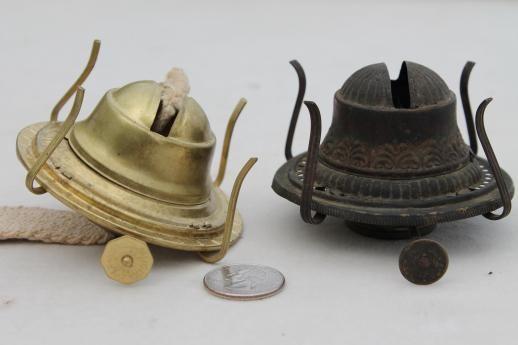 Old Oil Kerosene Lamp Parts Burner Lamp Wick Assemblies Vintage Oil Lamp Burners Oil Lamps Kerosene Lamp Lamp Parts