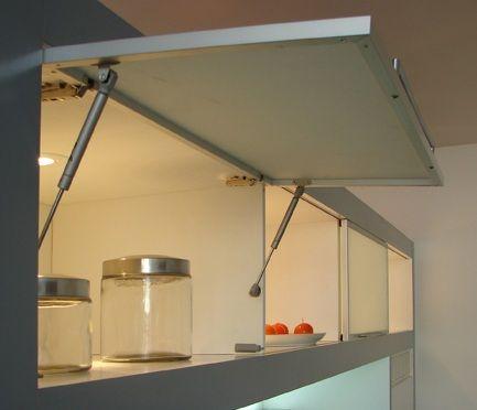 Pist n a gas any stop pist n para puertas superior de for Armado de gabinetes de cocina