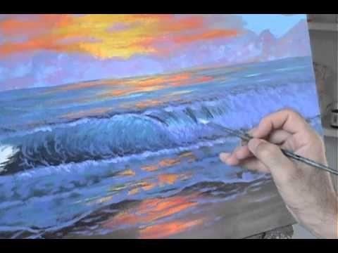 Peindre la vague de la mer paysage marin peinture acrylique sur toile