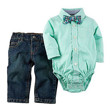 jcp | Carter's® 3-pc. Long-Sleeve Bodysuit Set - Baby Boys newborn-24m