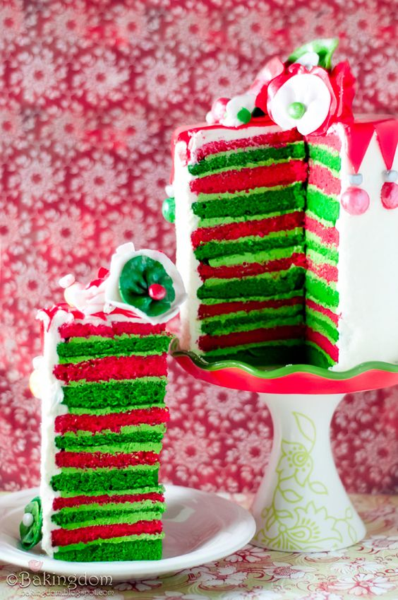 Christmas Cake! Reminds me of the Grinch and Whoville!