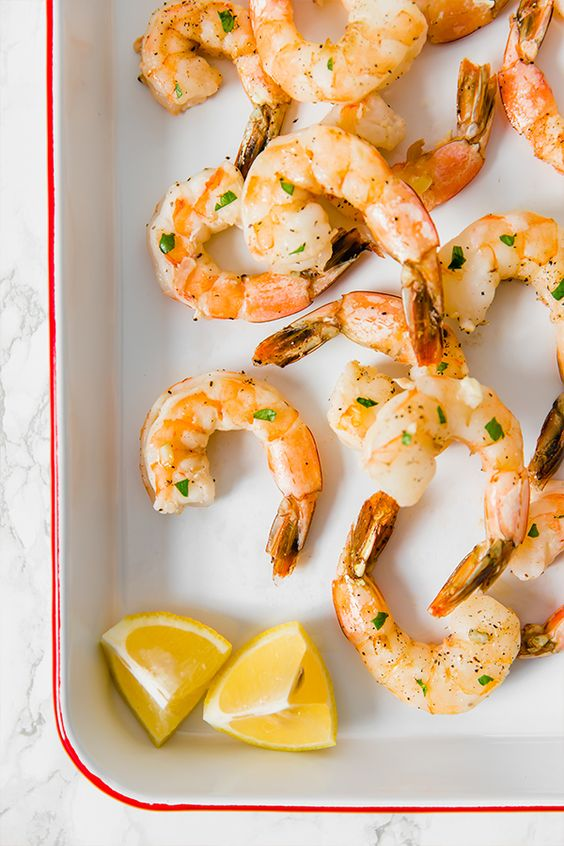 Healthy Lemon Baked Shrimp
