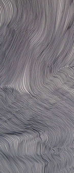 """Remarkable drawings by John Franzen who has created texture on paper like wrinkled fabric or waves of water John Franzen """"Each line one breath"""" www.johnfranzen.com/art/EACH_LINE_ONE_BREATH.html"""