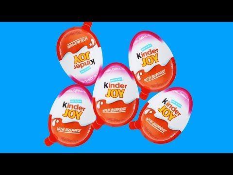 خمسة مفاجآت بيض كندر جوي للاطفال مع أغاني الحضانة القوافي Youtube Joy Kind Food Breakfast