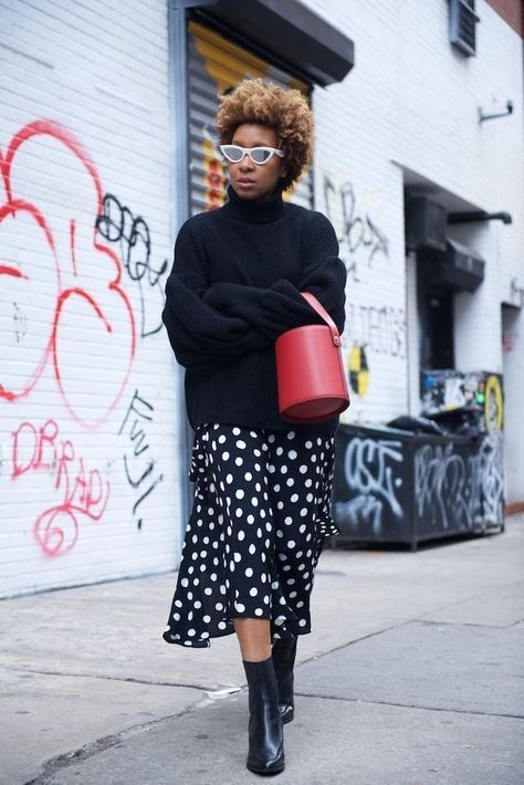Skirt Midi Winter Polka Dots 42 Ideas
