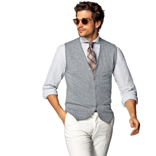 http://chicerman.com  suitsupply:  Toss the jacket over your shoulder and cover up in this cotton and cashmere blend waistcoat. http://bit.ly/1GeAd8U  #MENSUIT #TAILORSUIT