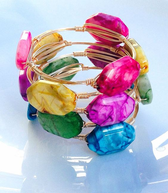 The Lucy gold bauble bangle on Etsy, $12.99
