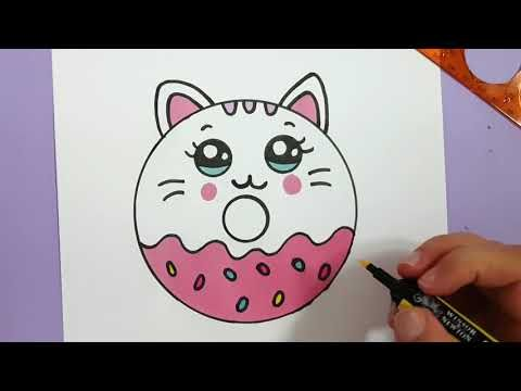 Chat Dessin Comment Dessiner Un Donut Chat Kawaii Youtube