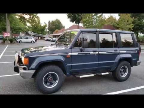 For Sale Isuzu Bighorn Irmsher R F5 1988 4x4 Ubs55fa Turbo Diesel 4jb 1 Youtube Trooper Turbo 4x4