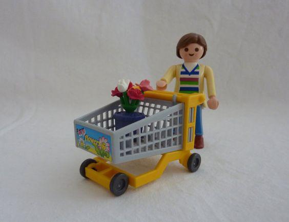 Vintage Playmobil Toy 4638 - Garden Shopper (1994) - Complete with Original Box