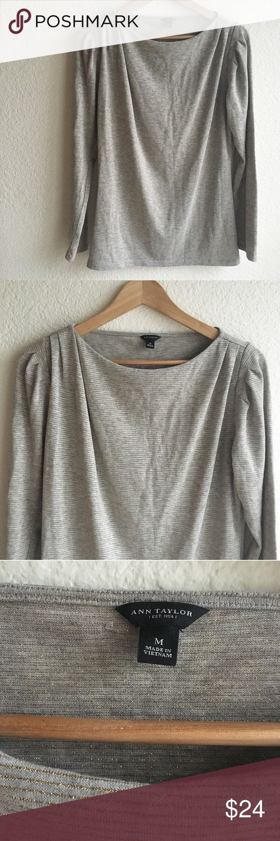 Ann Taylor long sleeve shirt Great conditions, cute design Ann Taylor Tops Blouses