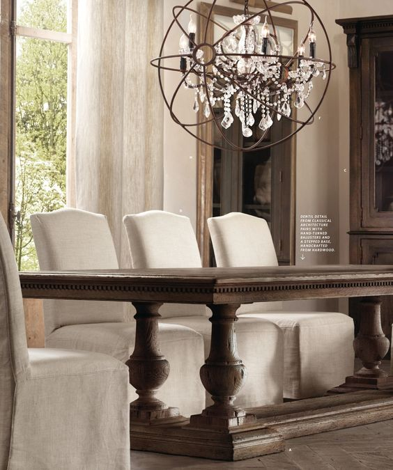 2013 fall catalog restoration hardware our lake home for Dining room tables at restoration hardware
