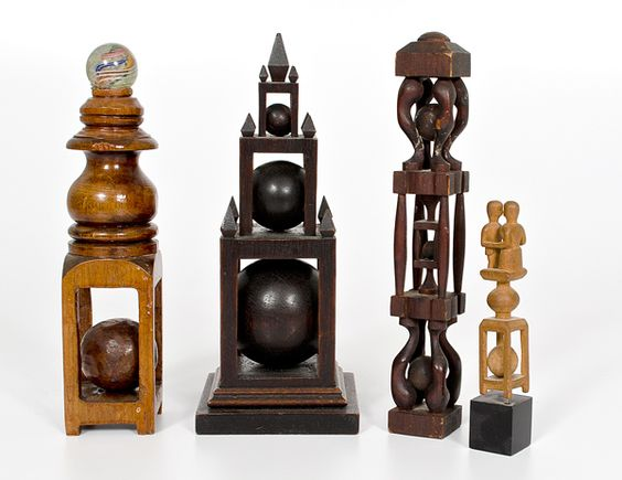 This are ball whimsies, an American folk art tradition.