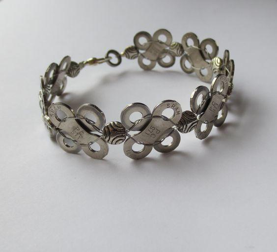 jewelry making bike parts | Bicycle Jewelry Chain Link Bracelet Recycled Bicycle Jewelry Sports ...