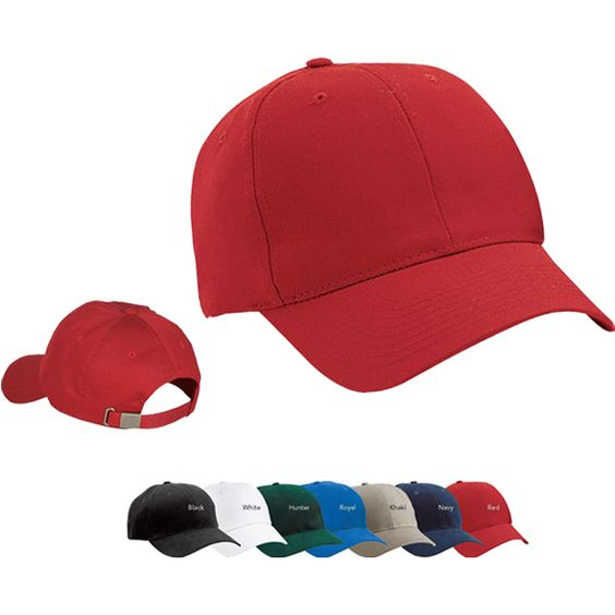 Keep the harsh sun off your face and out of your eyes with this 100% cotton brushed twill cap. The soft feel of brushed twill looks great wear after wear. Fabric: 100% cotton brushed twill. Structure: Structured.    Profile: Mid. Closure: Self-fabric adjustable slide closure with buckle and grommet.