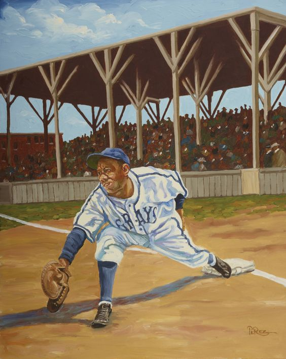 Buck Leonard painting by Dick Perez